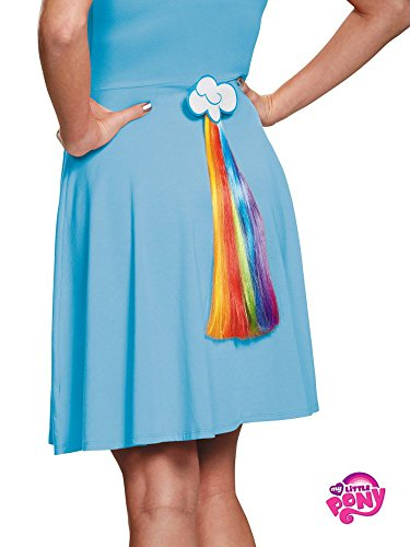 Disguise Women's Rainbow Dash Adult Costume Tail, Multi, One Size