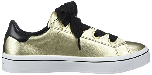 Skechers Donne Hi Lite Metallici Cuoio Di Modo Sneaker Oro