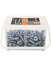 T.K.Excellent Self Drilling Drywall Anchors with Screws Kit,100 Pieces