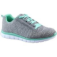 Womens Athletic Malla Knit Running Zapatillas Peso ligero Go fácil Walking Casual Confort Zapatillas de running 2.0