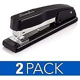 Swingline Stapler, Commercial Desktop Staplers, 20 Sheet Capacity, Black, 2 Pack (44401AZ)