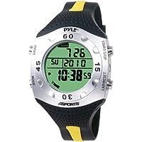 PYLE-SPORTS Advanced Dive Meter With Water Depth, Temperature, Dive Logand Auto EL Backlight (PSWDV60Y)