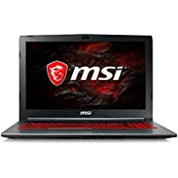 MSI GV62 7RE 15.6 Full HD Cool Gray Performance Gaming Laptop Quad Core i7-7700HQ, GeForce GTX 1050TI 4GB Graphics, 8GB RAM, 1TB Hard Drive SteelSeries Red Backlit Keyboard
