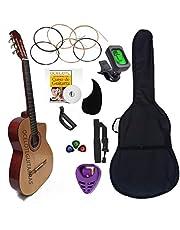 Guitarra Acústica Curva Ocelotl Color Vino Paquete Vital De Accesorios