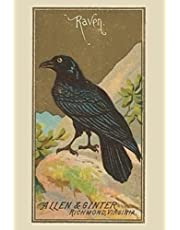 """Raven:: Journal Notebook. Vintage Print. Crow. Blank lined Pages.
