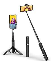 ATUMTEK Bluetooth Selfie Stick Driepoot, Mini Verlengbare 3 in 1 Aluminium Selfie Stick met Draadloze Verre en Driepoottribune 270 omwenteling voor iPhone 11/11 Pro/XS/XS/XR/X/8/7, Samsung en Smartphone