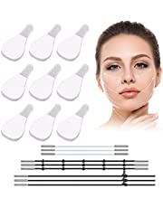 240 Pieces Face Lift Tapes and Bands Invisible Face Wrinkle Patch with 18 Face Lifting Elastic Bands for Women Instant Neck Eye Double Chin Lift Tools