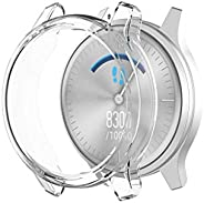 Shan-S for Garmin Vivomove-Luxe Watch Protector Case,Soft Ultra-Slim Crystal Clear TPU Frame Shock-Proof Prote