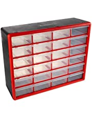 Storage Drawers Compartment Organizer Desktop or Wall Mount Container for Hardware, Beads, Jewelry, and More by Stalwart