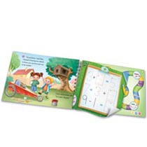Write numbers and b  build a soap box derby car.</p><h5>LeapFrog LeapReader Writing Workbook: Write it! Engineering a Win Features</h5><p><ul><li>Use science, technology, engineering, art and math skills to design signature cars for the Soap Box Derby</li><li>Interactive workbook features play-based learning activities: number writing, engineering vocabulary, mathematics mazes and more</li><li>Teaches: design process, engineering basics and solving equations</li><li>Ages 4-8 years</li><li>Works with LeapReader reading system (sold separately)</li></ul></p><center><span class=