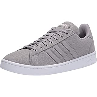 adidas mens Grand Court Sneaker, Light Granite/Light Granite/Orbit Grey, 12 US