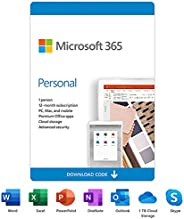 Microsoft 365 Personal | 12-Month Subscription, 1 person | Premium Office apps | 1TB OneDrive cloud storage |
