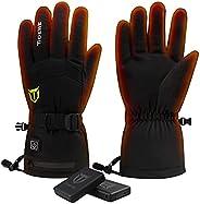 TIDEWE Heated Gloves with Battery for Men Women, Waterproof Warm Heating Gloves