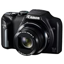 Canon PowerShot SX170 IS 16.0 MP Digital Camera with 16x Optical Zoom and 720p HD Video (Black) Japan Import