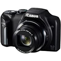 Canon PowerShot SX170 digital camera wide angle 28mm optical 16x zoom PSSX170IS - International Version (No Warranty)