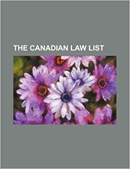 The Canadian Law List Group Books 9781236134493 Amazon Com Books