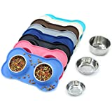Vivaglory Dog Bowls, Set of 2, Stainless Steel...