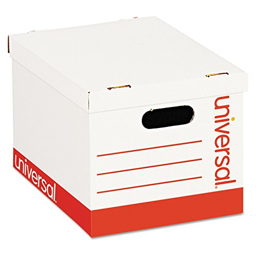 Universal 95223 - Economy Storage Box, Lift-Off Lid, Letter/Legal. White, - Storage Boxes Strength Basic