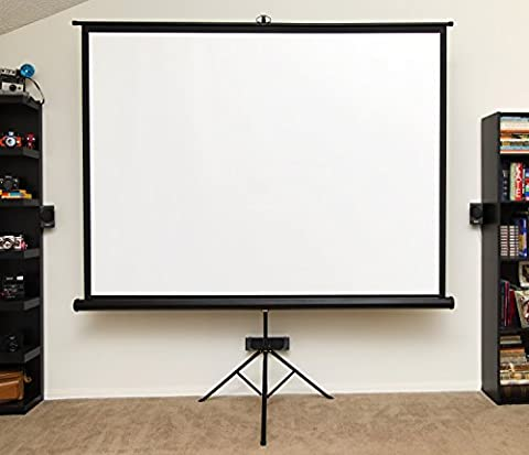 Insight 100 inch 4:3 Ratio Tripod Ultra HD Projector Screen w/ Bonus Carrying Bag Included (75 Inch Projector Screen)