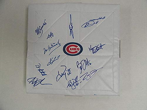 Autographed 2012 Chicago Cubs Team Signed Base Bryan Lahair