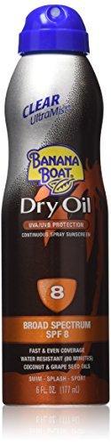 Banana Boat Dry Oil Continuous Spray Sunscreen SPF 8 6 OZ -