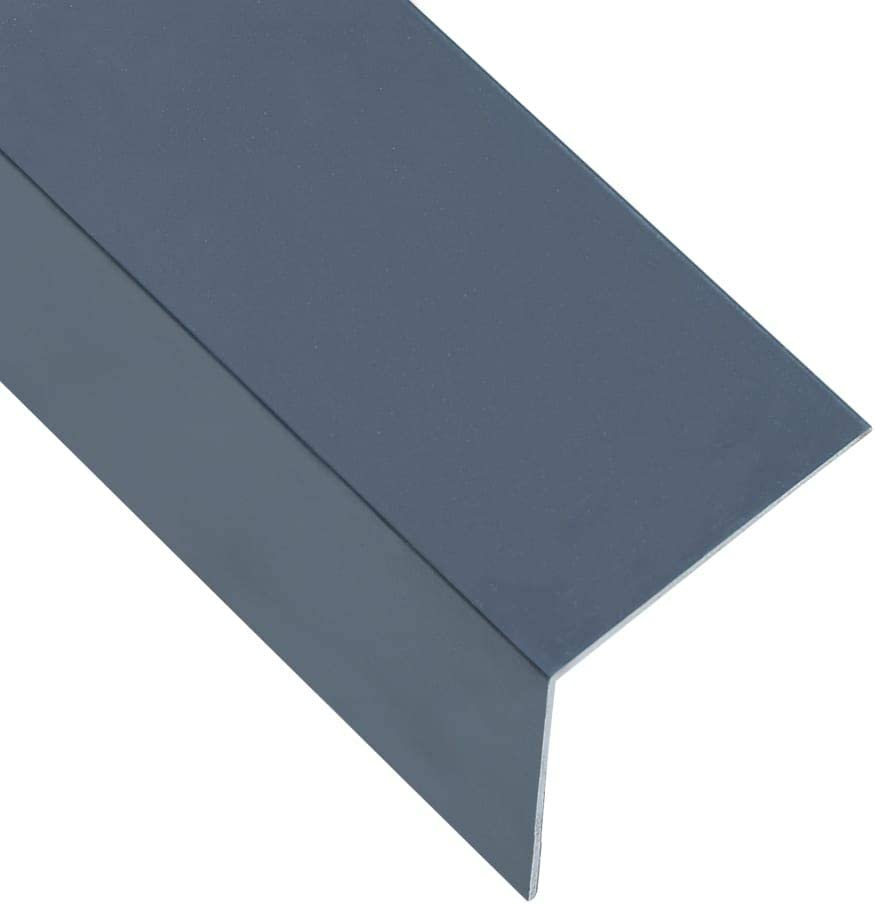 vidaXL 5x Feuilles dAngle /à 90/° en L Corni/ère Protection de Bord de Marche dEscalier Ext/érieur Durable Aluminium Anthracite 60x40 mm