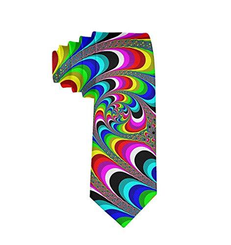 (Men's Fashion tie Psychedelic Art Swirl Necktie One Size Neck Tie)