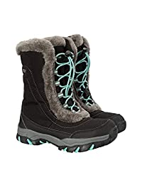 Mountain Warehouse Ohio Youth Snow Boots - Kids Warm Winter Shoes