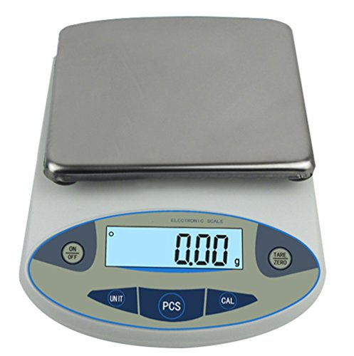 High Precision Lab Analytical Electronic Balance Digital Precision Scale Laboratory Precision Weighing Electronic Scales Balance Jewelry Scales Gold Balance Kitchen Scales (5000g, 0.01g) (Electronic High)