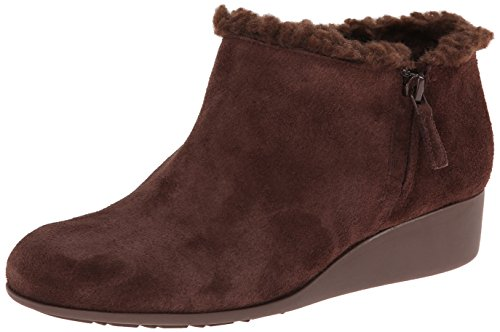 Cole Haan Women's Callie SHL Rain Boot, Chestnut Suede/Shearling, 7 B US by Cole Haan