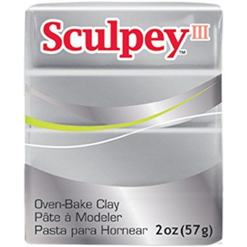 Sculpey III Polymer Clay 2 Ounces-Silver