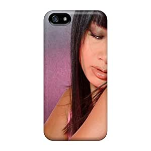 Iphone 5/5s Case Cover Ing Bai Girl Brunette Face Case - Eco-friendly Packaging