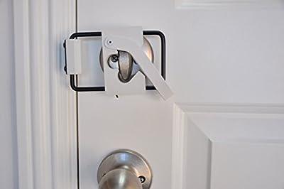 LOKmate Deadbolt Door Lock Security (White on Black)