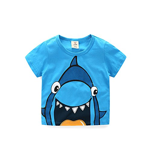 Motecity Fashion Little Boys Cartoon Printed T-Shirt
