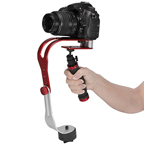 Agile-Shop Pro Handheld Steadycam Video Stabilizer Handle Grip Steady Support for Canon Nikon Sony Camera Cam Camcorder DV DSLR - Rubber Handle (Shop Camera)