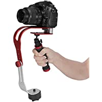 Agile-Shop Pro Handheld Steadycam Video Stabilizer Handle Grip Steady Support for Canon Nikon Sony Camera Cam Camcorder DV DSLR - Rubber Handle