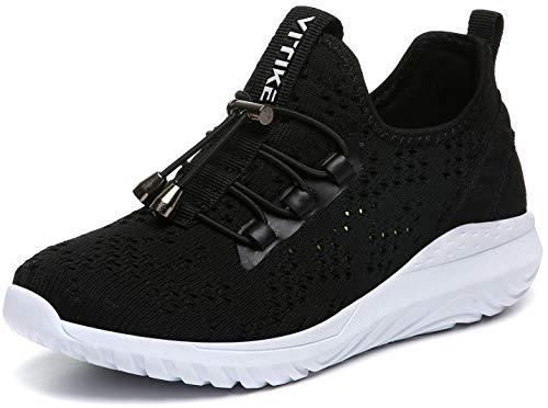 Boy's Running Shoes Mesh Athletic Sneaker Kids Black Size 2 M US Little Kid