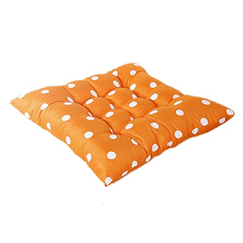 Bestpriceam® Soft Home Office Cotton Polka Dot Seat Cushion Buttocks Chair Pads (Orange) (Patio Chair Cushions Cheap)
