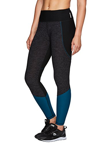 RBX Active Women's Color Block Yoga Legging Grey with Blue M