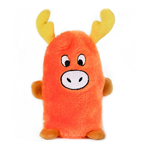 ZippyPaws - Squeakie Buddie No Stuffing Plush Dog Toy - Moose
