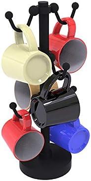 Allied Brass Countertop 6 Coffee Mug Holder, Matte Black