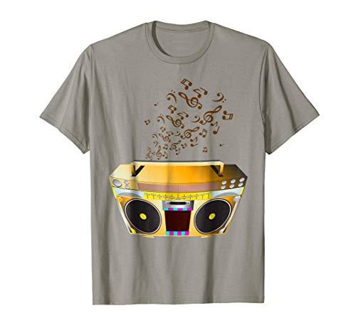 Groovy 80s Boombox Radio Stereo Music T-Shirt ()