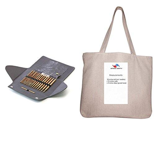 addi-bundle-addi-click-olive-wood-interchangeable-circular-knitting-needle-system-with-1-artsiga-cra