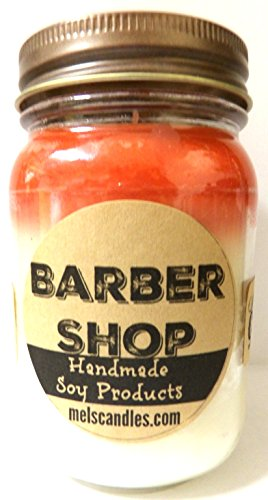 BARBER SHOP Handmade 16oz All Natural Soy Candle, Apx Burn Time 144 Hours