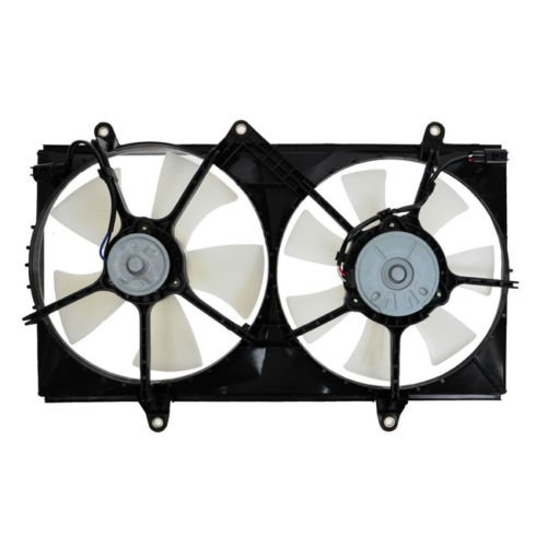 (Dual Radiator and Condenser Fan Assembly - Cooling Direct For/Fit TO3115106 98-02 Toyota Corolla)