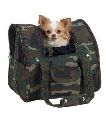 Verde Camuflaje perro mochila Carrier, bicicleta, cajas de perros, perro Carrier, mochila mascotas para perros Mochila: Amazon.es: Productos para mascotas