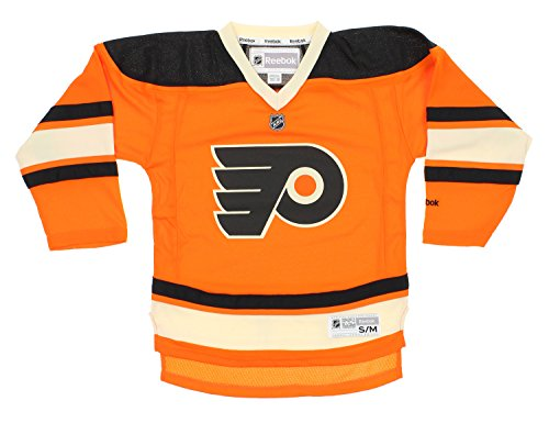 NHL Youth Boys Philadelphia Flyers Alternate Color Replica Jersey, Orange – DiZiSports Store