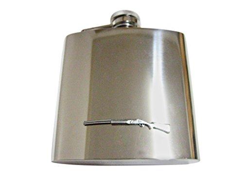 Pump Shotgun 6 Oz. Stainless Steel Flask