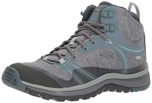 KEEN Women's Terradora Mid Waterproof Hiking Boot, Stormy Weather/Wrought Iron, 10.5 M US