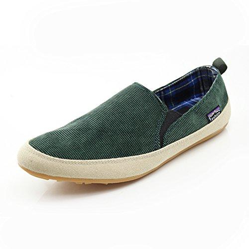 Inglaterra en los zapatos de ocio de verano/Tendencia fija del pie zapatos de los hombres Verde